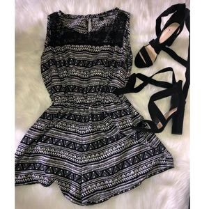 Other - Black romper with mesh on the front top 🖤